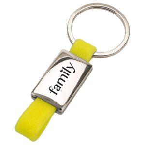 מחזיק מפתחות עם לוחית מלבנית - לופ
