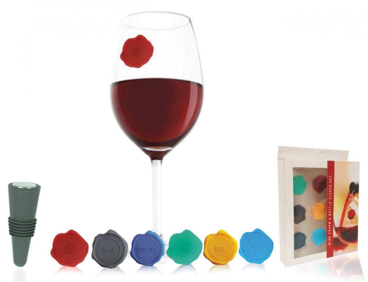 חותמות לכוסות יין - צ'ארם