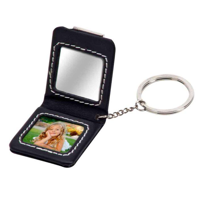 מחזיק מפתחות עם מראה ומקום לתמונה - נוי