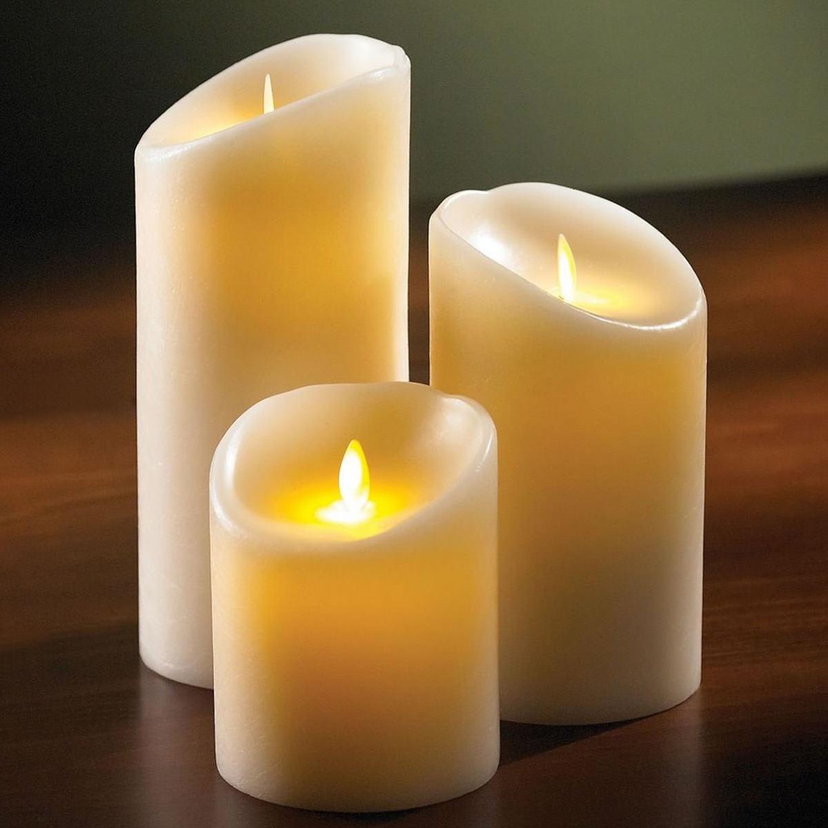 אמטיס- סט שלושה נרות LED