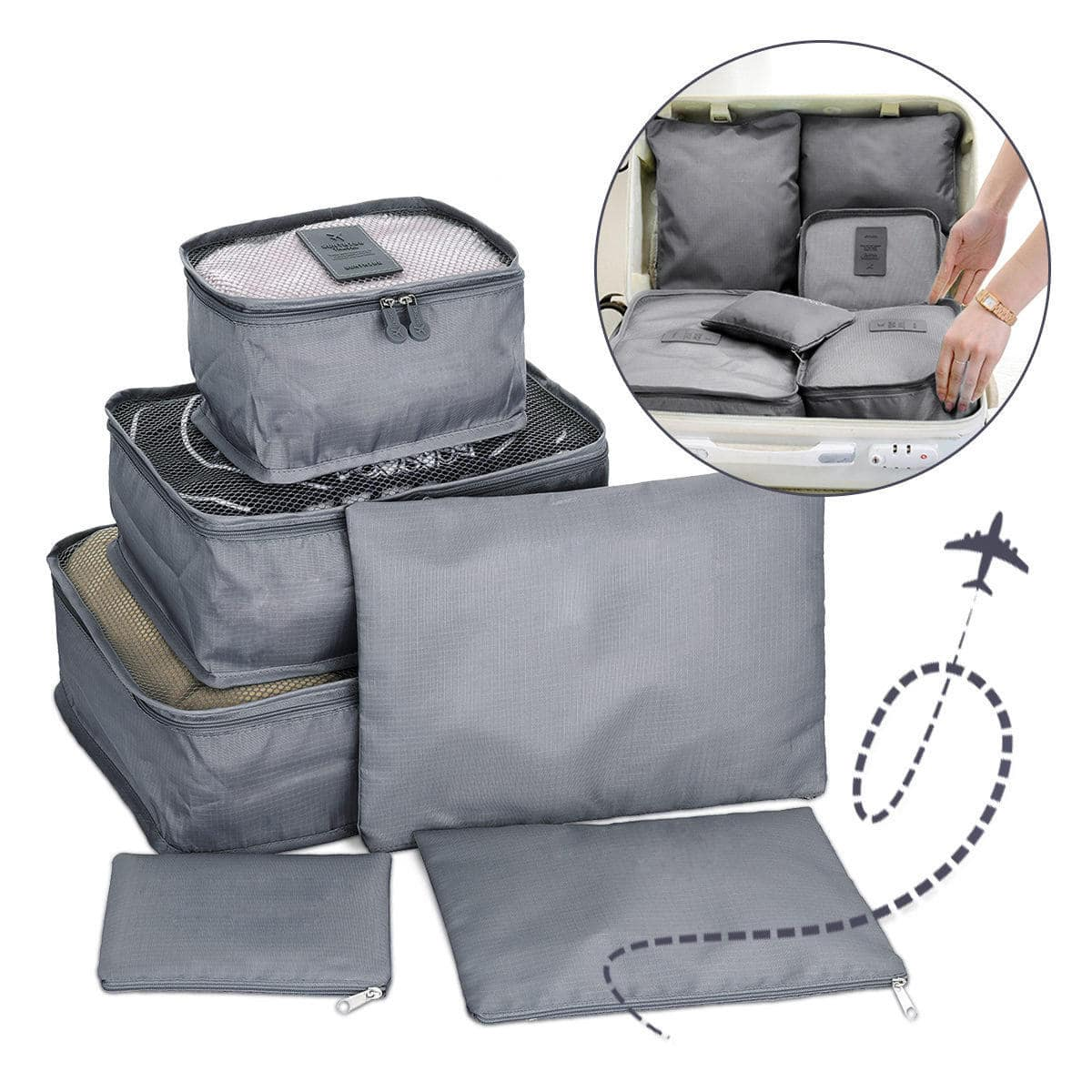 סט תיקי אחסון לסידור מזוודה - Travel Fix