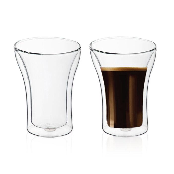"""זוג כוסות זכוכית עם דופן כפולה 250 מ""""ל - קולומביה"""