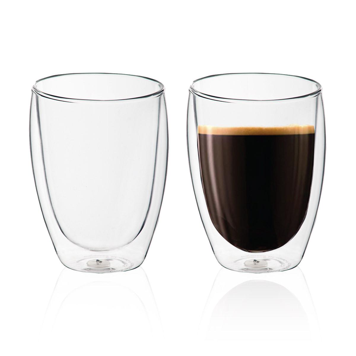 """זוג כוסות זכוכית עם דופן כפולה 350 מ""""ל - ויאטנם"""