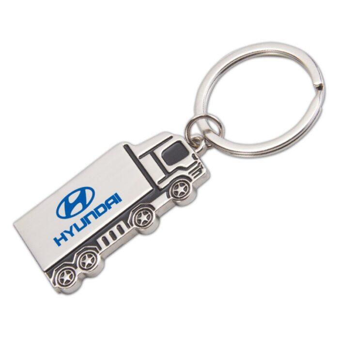 מחזיק מפתחות ממתכת, צורת משאית - פואג'ו