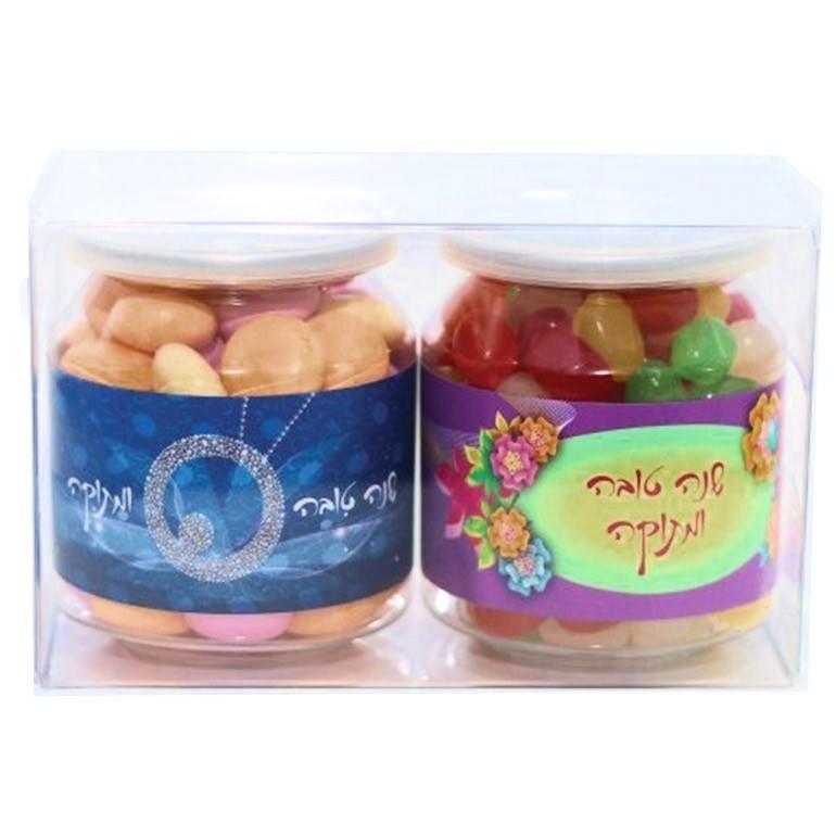 פחיות ממתקים שקופות ממותגות