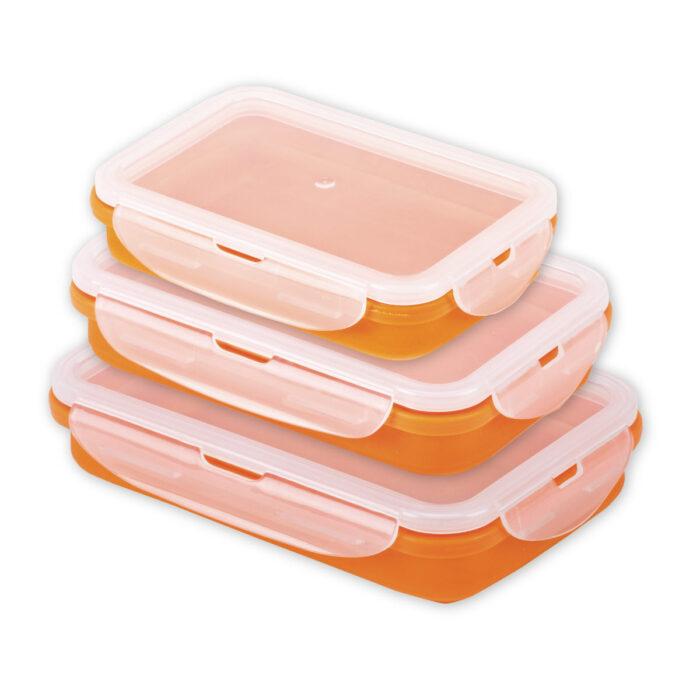 סט 3 קופסאות אוכל מסיליקון - אאוט בוקס