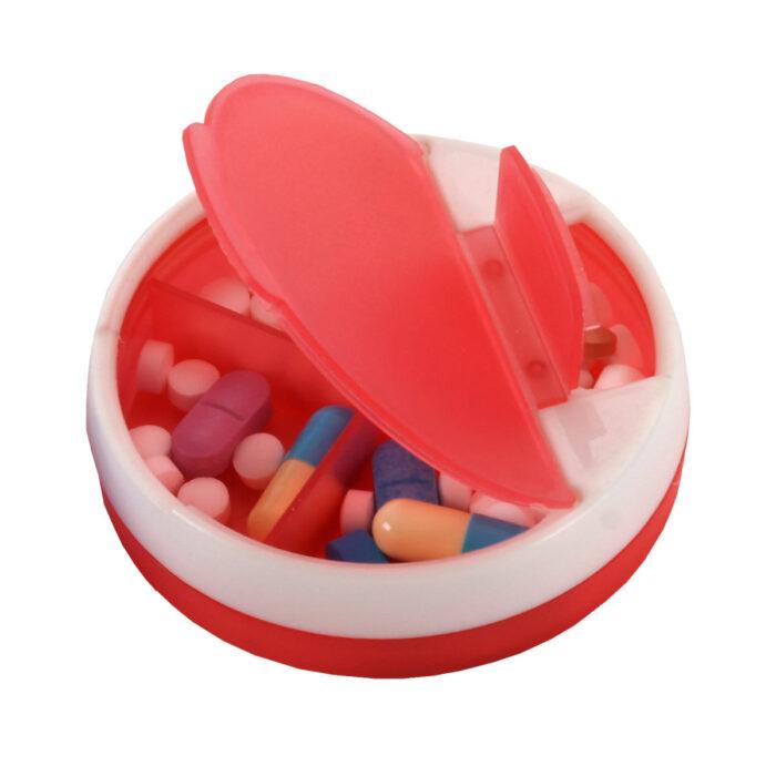 קופסת תרופות עם 4 תאים ושני פתחים - טיראני