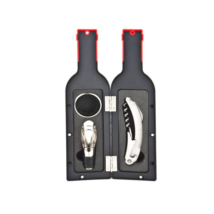 סט אביזרי יין במארז בצורת בקבוק - גאלו