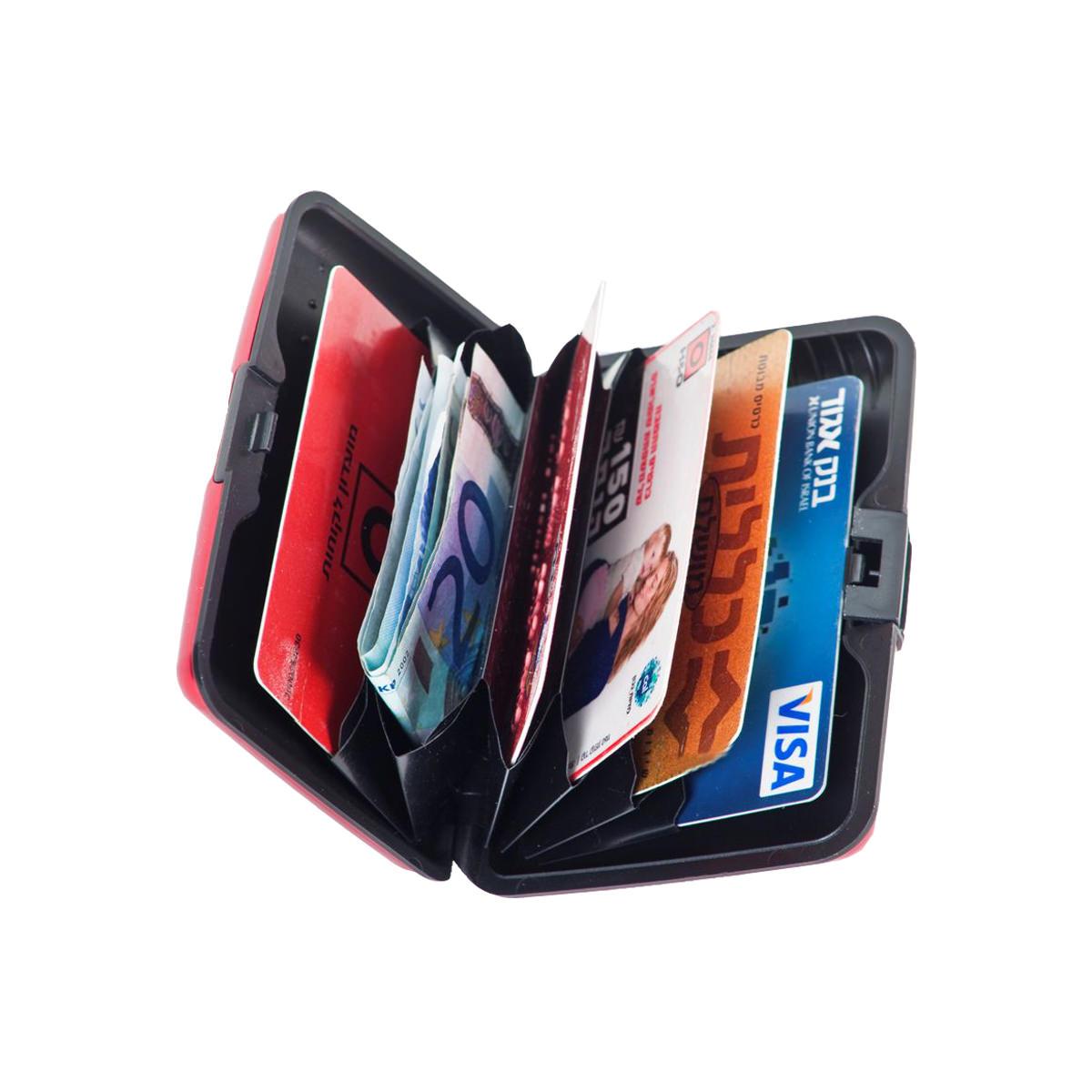 ארנק אלומיניום לכרטיסי אשראי וביקור - אפסום