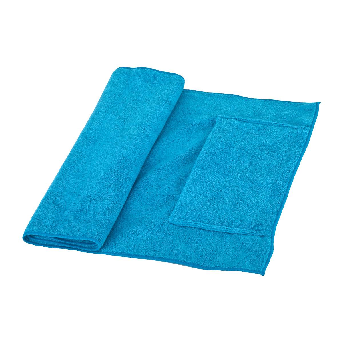 מגבת ספורט עם כיס סגירת רוכסן - ברק