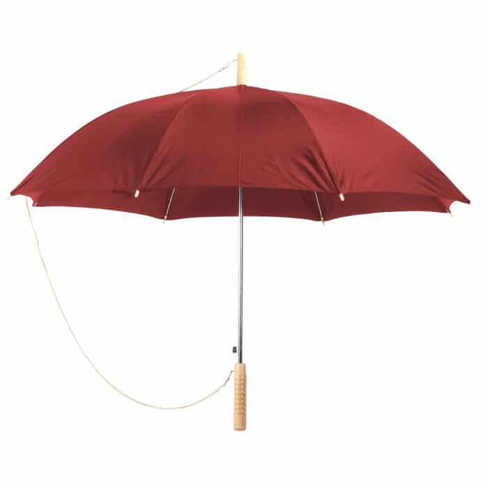 """מטריה """"23 מוט ברזל, ידית עץ - פרומו"""