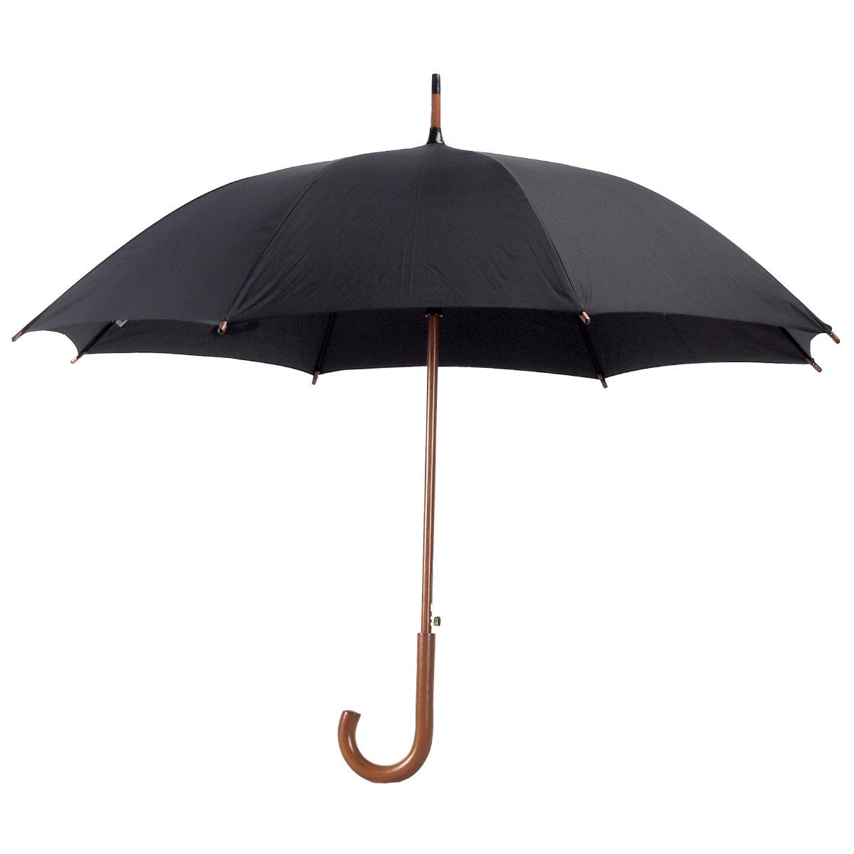 """מטריה """"23, מוט וידית אחיזה מעץ - מרי"""