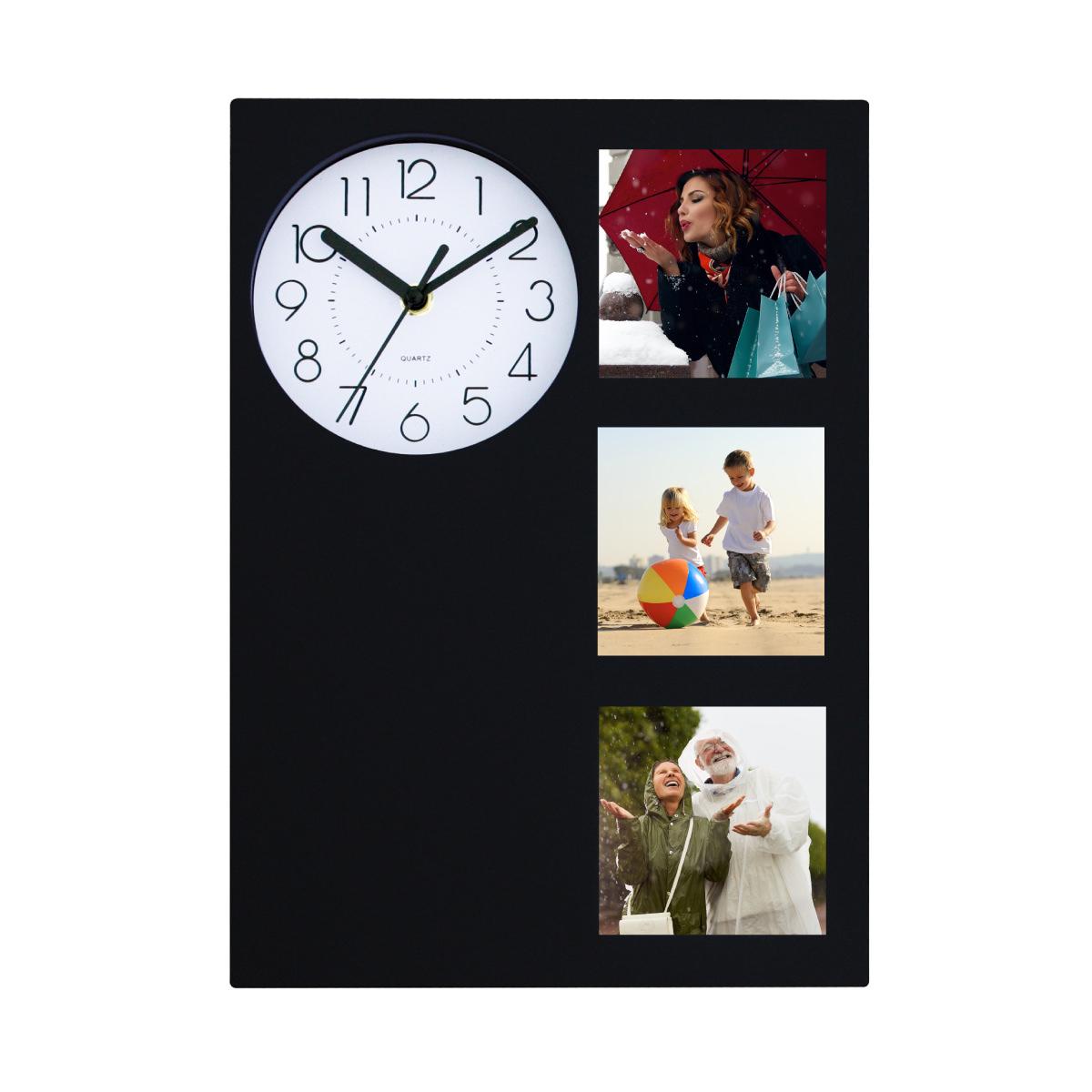 שעון קיר עם מסגרות לתמונות - לוגאנו