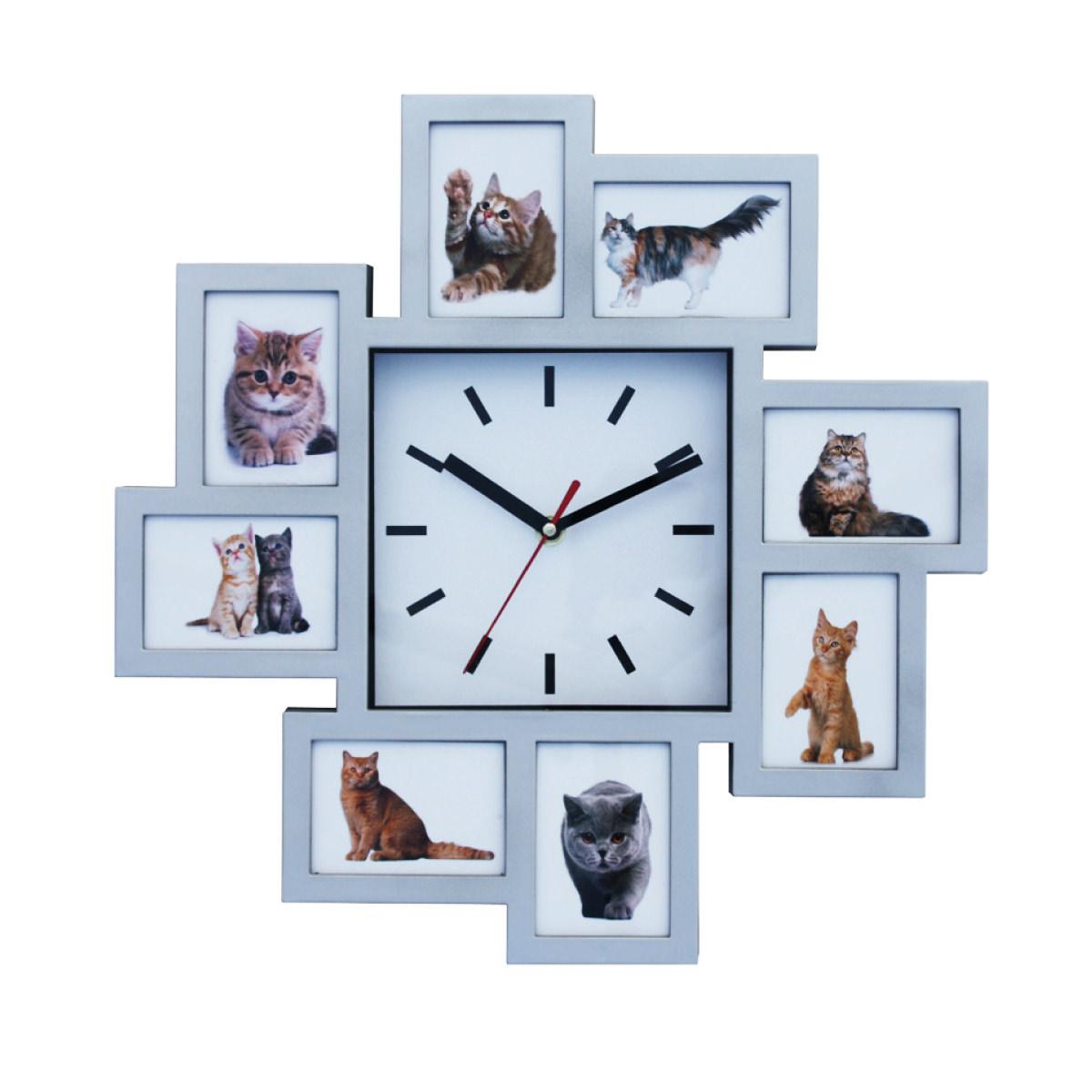 שעון קיר עם מסגרות לתמונות - בזל