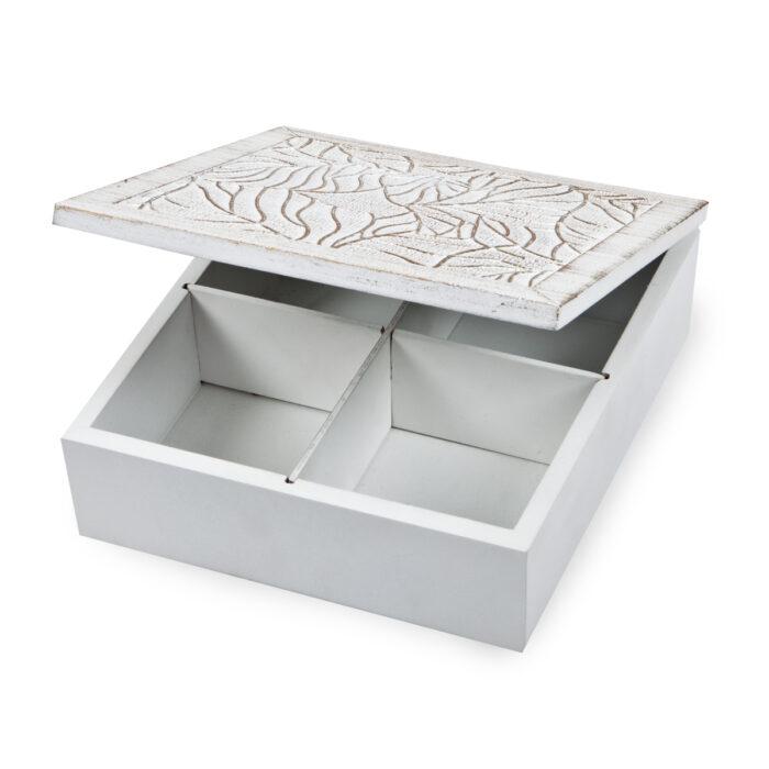 קופסת עץ עם עיטורים - ערבסק