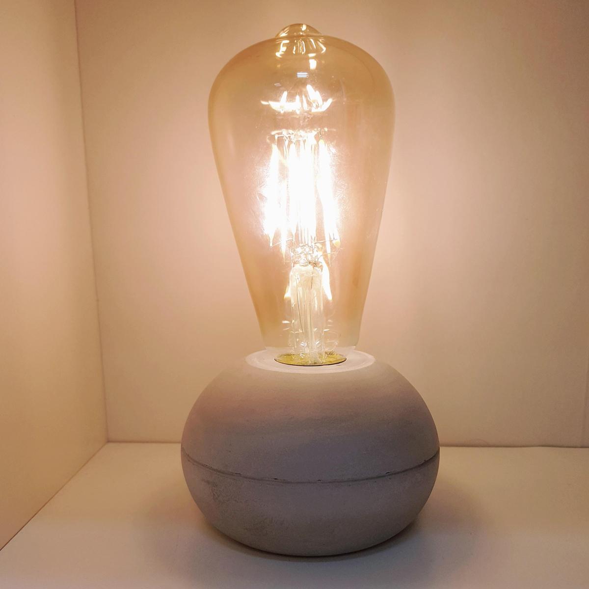 מנורה מעוצבת עם נורת LED - לונה