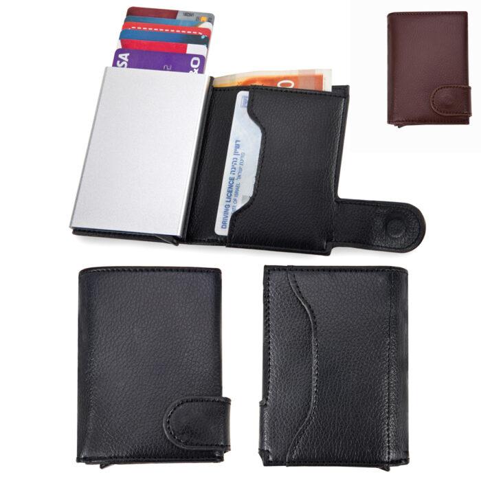 ארנק לכרטיסי אשראי וכסף עם מנגנון שליפה לכרטיסי אשראי - ניקס