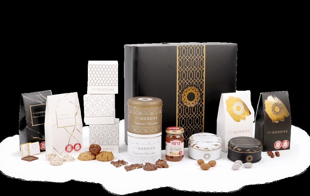 מארז שי קסיופאה שחור לבן - חליטות תה מיוחדות ועוגיות