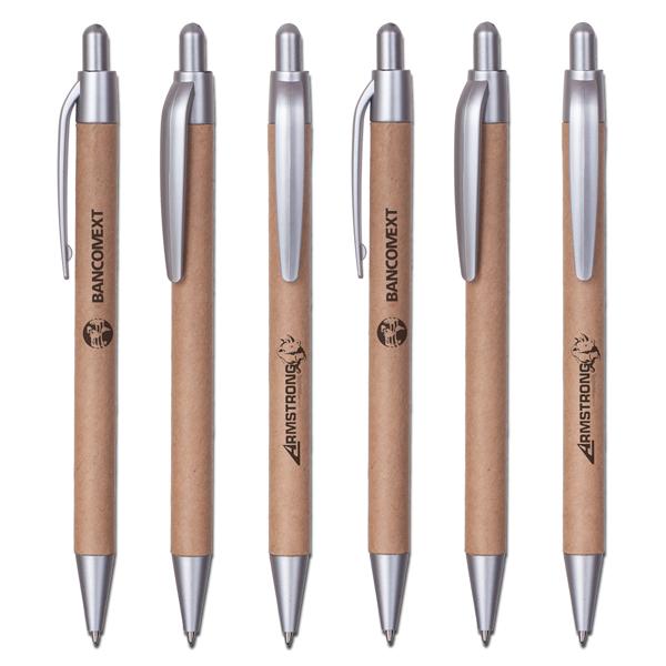 עט ממותג מקרטון ממוחזר - אקו