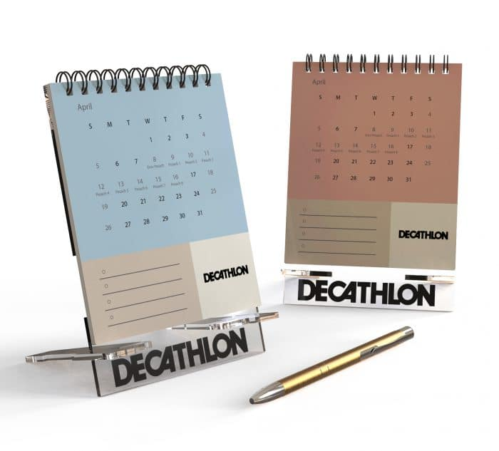 לוח שנה שולחני ממותג - ספורט
