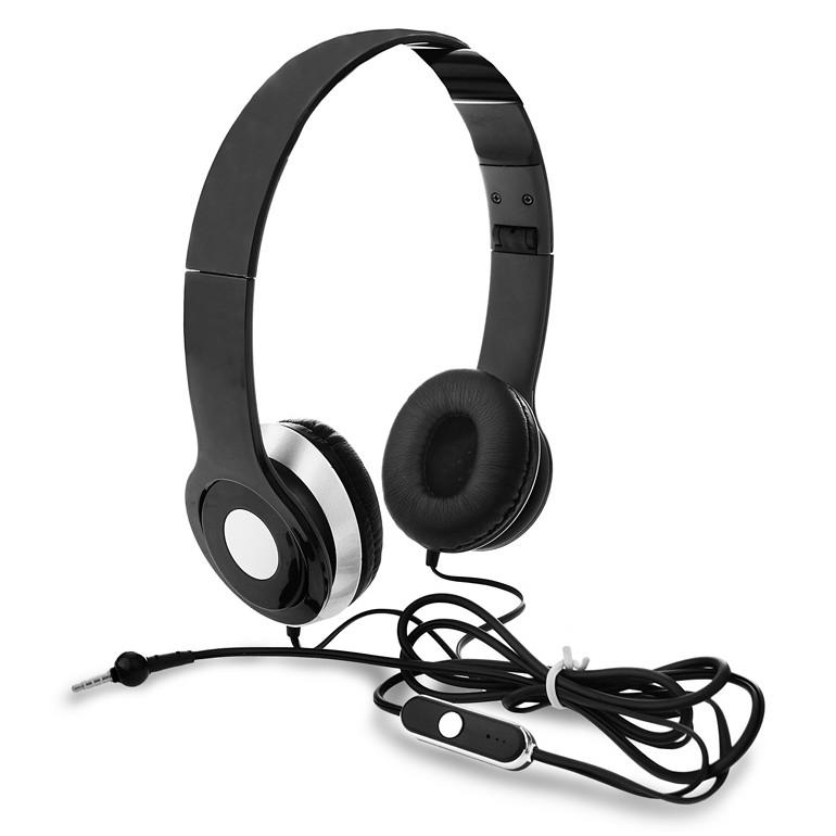 אוזניות קשת מתקפלות עם מיקרופון לשיחות