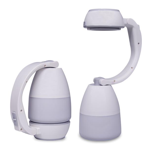 מנורת שולחן מתקפלת לפנס נישא נטען USB הכוללת גם מטען נייד 1200mAh
