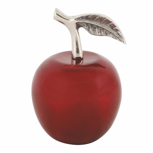 תפוח דקורטיבי מהודר מאלומיניום ואמייל - אדום