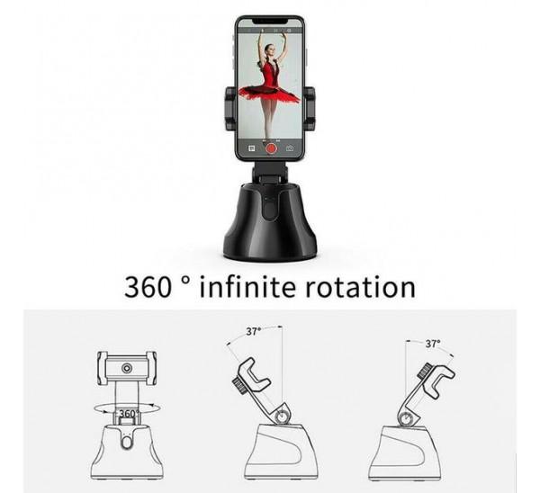 חצובת סלפי חכמה עם חיישן תנועה ומעקב אחר אובייקט הצילום 360 מעלות