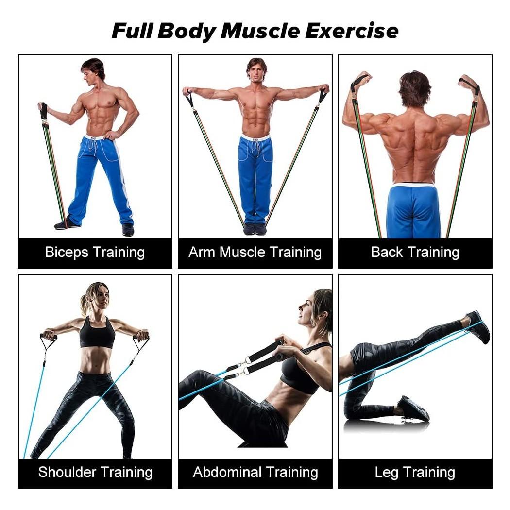 סט גומיות התנגדות מקצועיות 11 חלקים לאימון לכל חלקי הגוף - טריינר