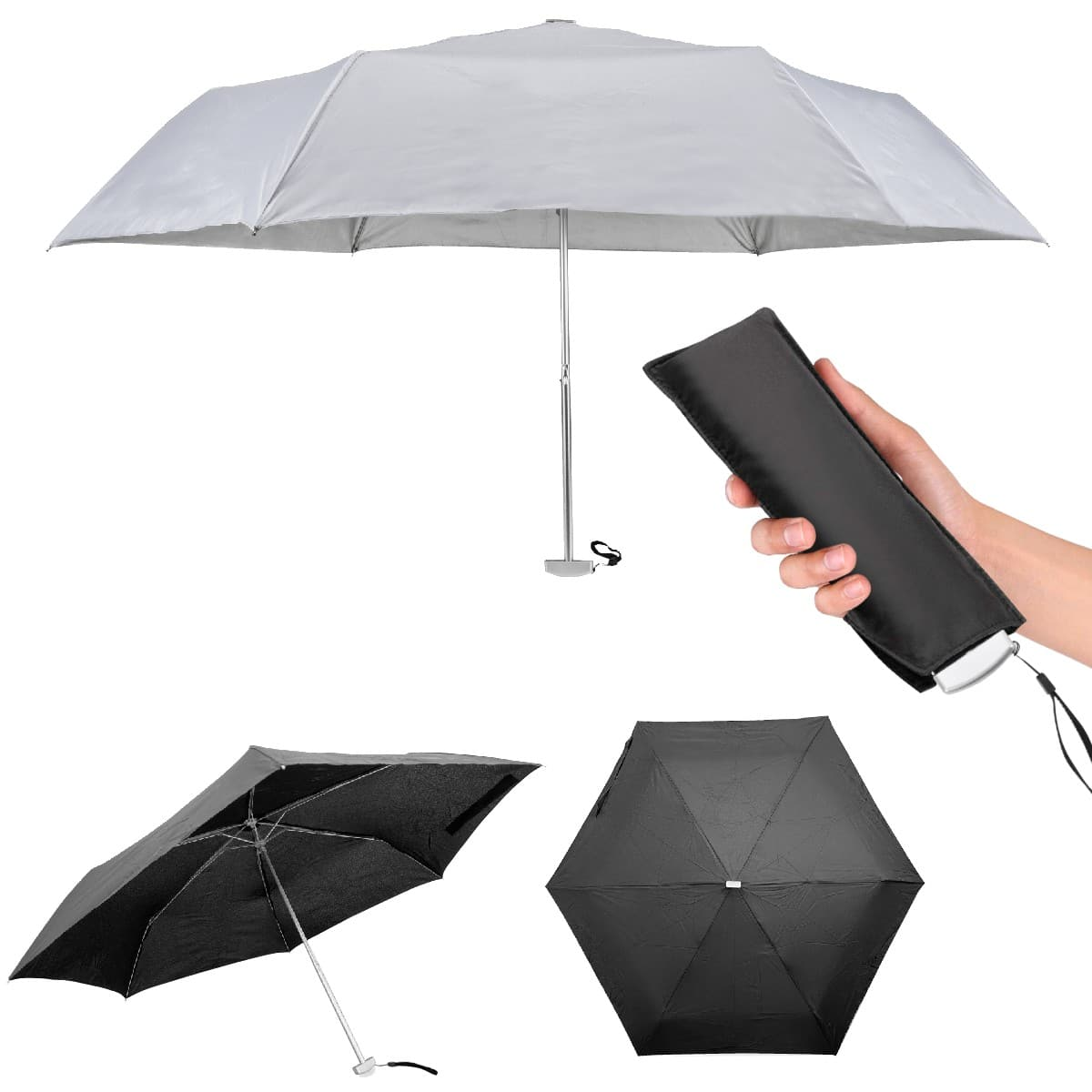 """מטריה מתקפלת שטוחה """"21"""