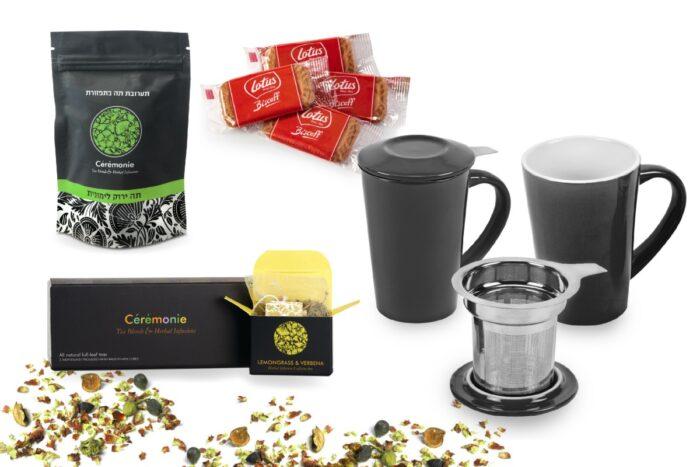 מארז מהודר של חליטות תה ופורצלן - פורצה