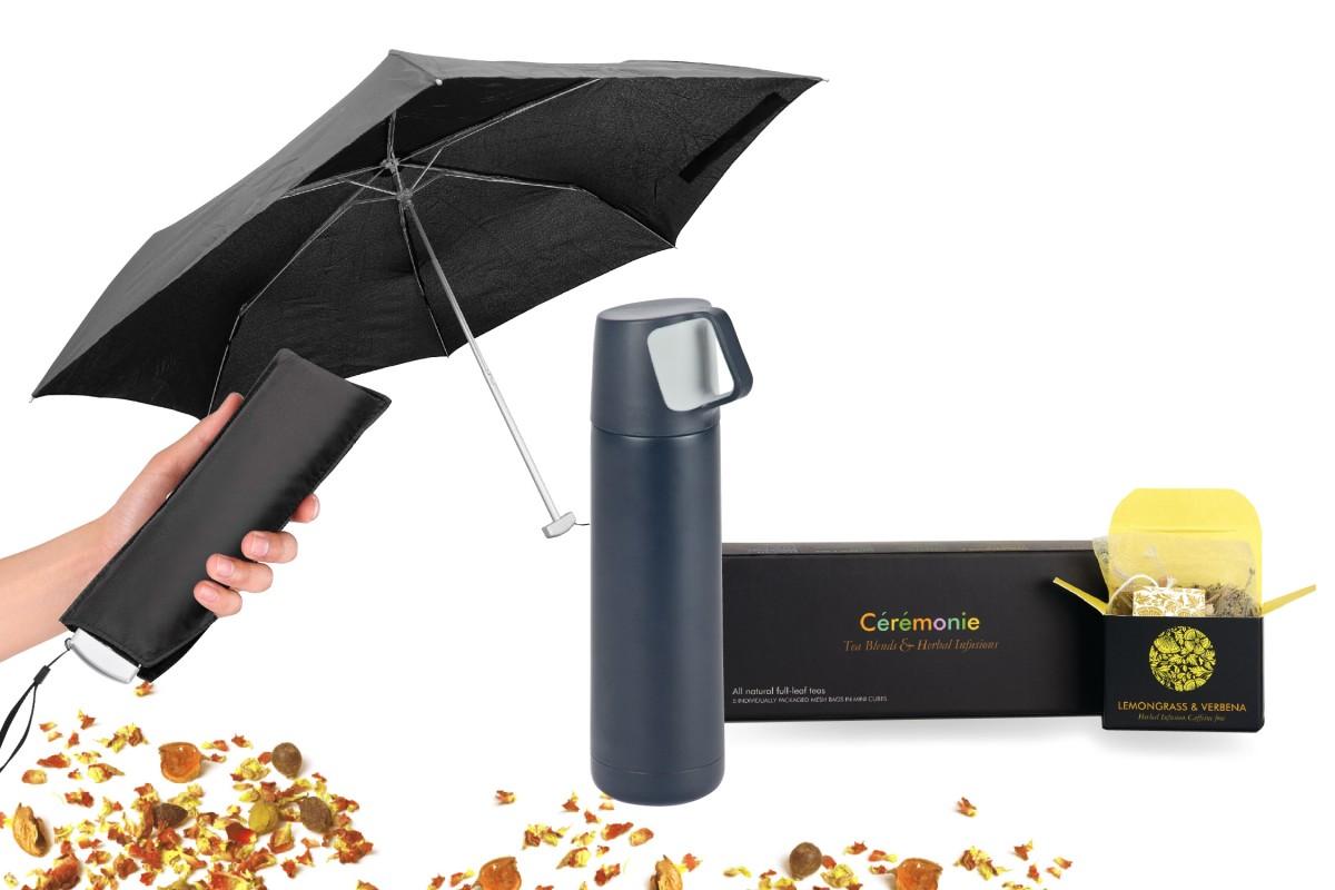ערכת חורף עם מטריה טרמוס ותה - וינטר