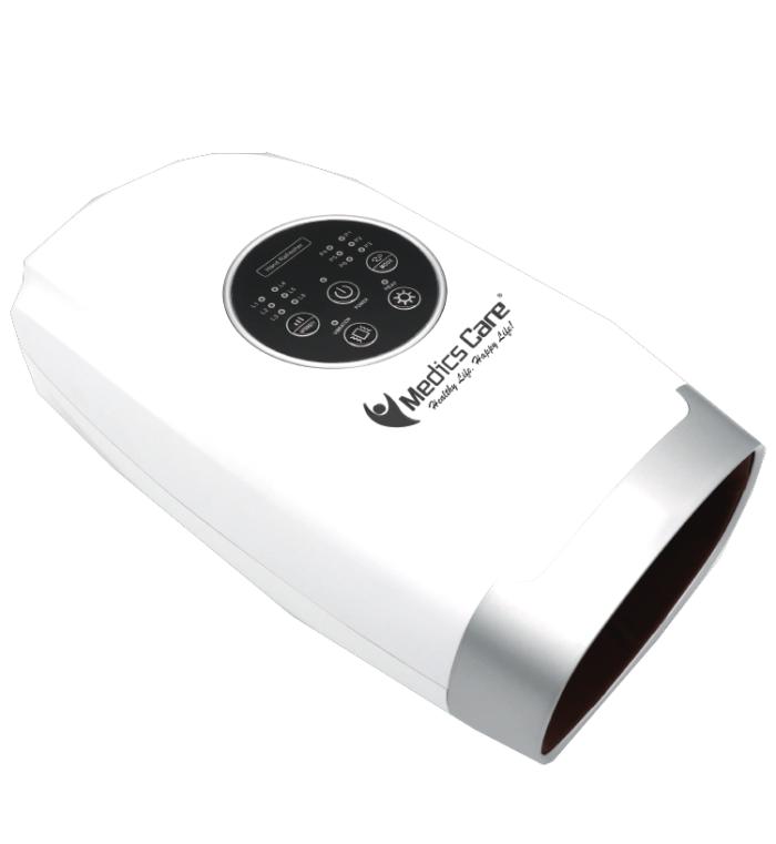 מכשיר עיסוי לכפות הידיים עם כריות לחץ