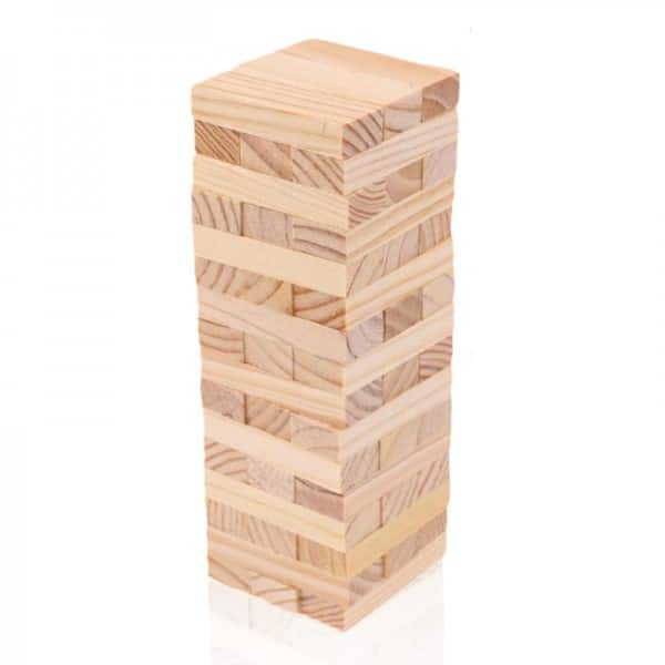 משחק ג'נגה - מפולת לבנים מעץ