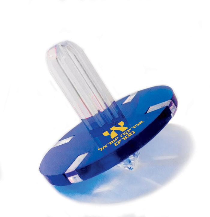 סביבון אקרילי צבעוני ממותג - ספיני