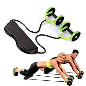 זוג גלגלות אימון עם רצועות התנגדות לכושר וספורט