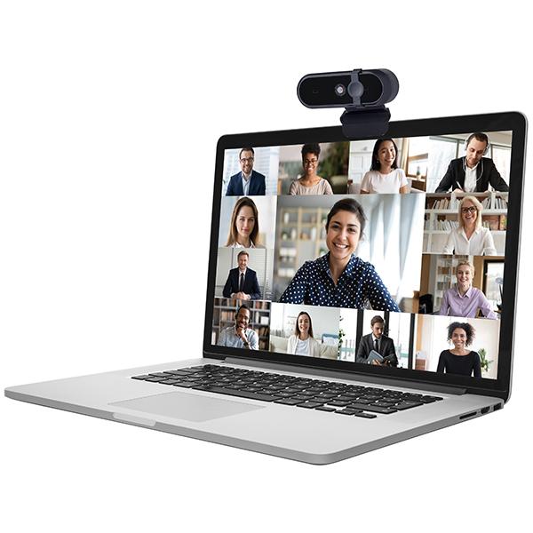 מצלמת רשת למחשב ולזום HD1080P עם מיקרופון מובנה ותריס ביטחון להגנת הפרטיות