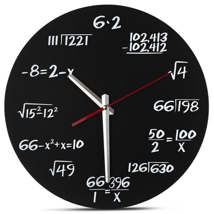 שעון קיר מתמטי