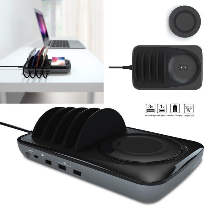 עמדת טעינה ביתית/משרדית עד 5 מכשירים – גלקסי סטיישן