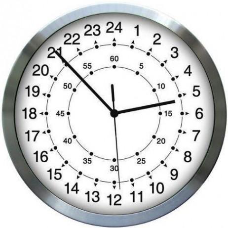 שעון קיר 24 שעות