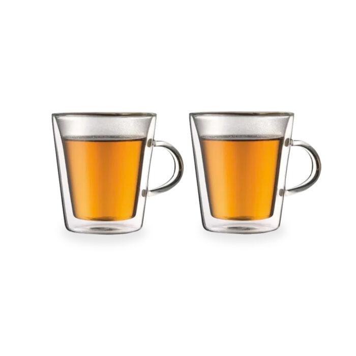 """זוג כוסות זכוכית 250 מ""""ל עם דופן כפולה – אוגנדה"""