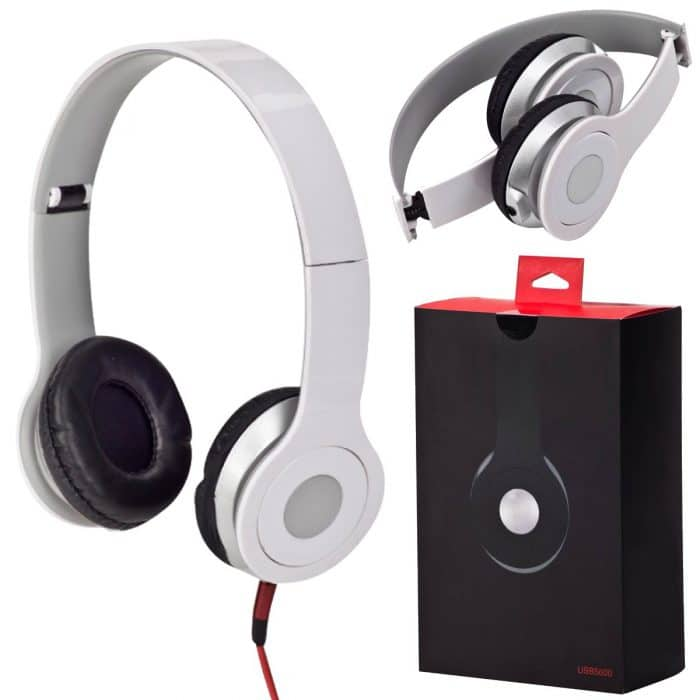 אוזניות קשת סטריאופוניות מתקפלות עם מיקרופון מובנה לשיחות
