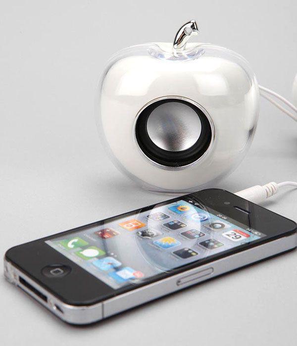 רמקול בעיצוב תפוח - אפל מיוזיק