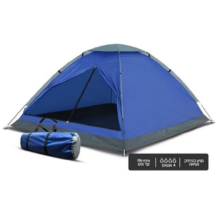אוהל שטח מקצועי מתקפל - עד 4 אנשים