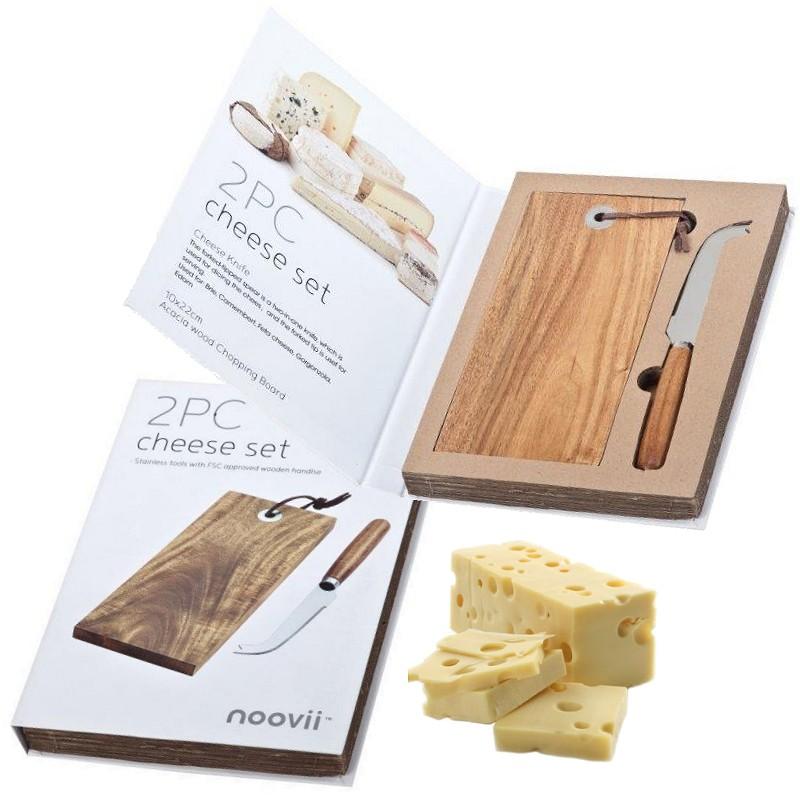 סט לחיתוך והגשת גבינות במארז ספר