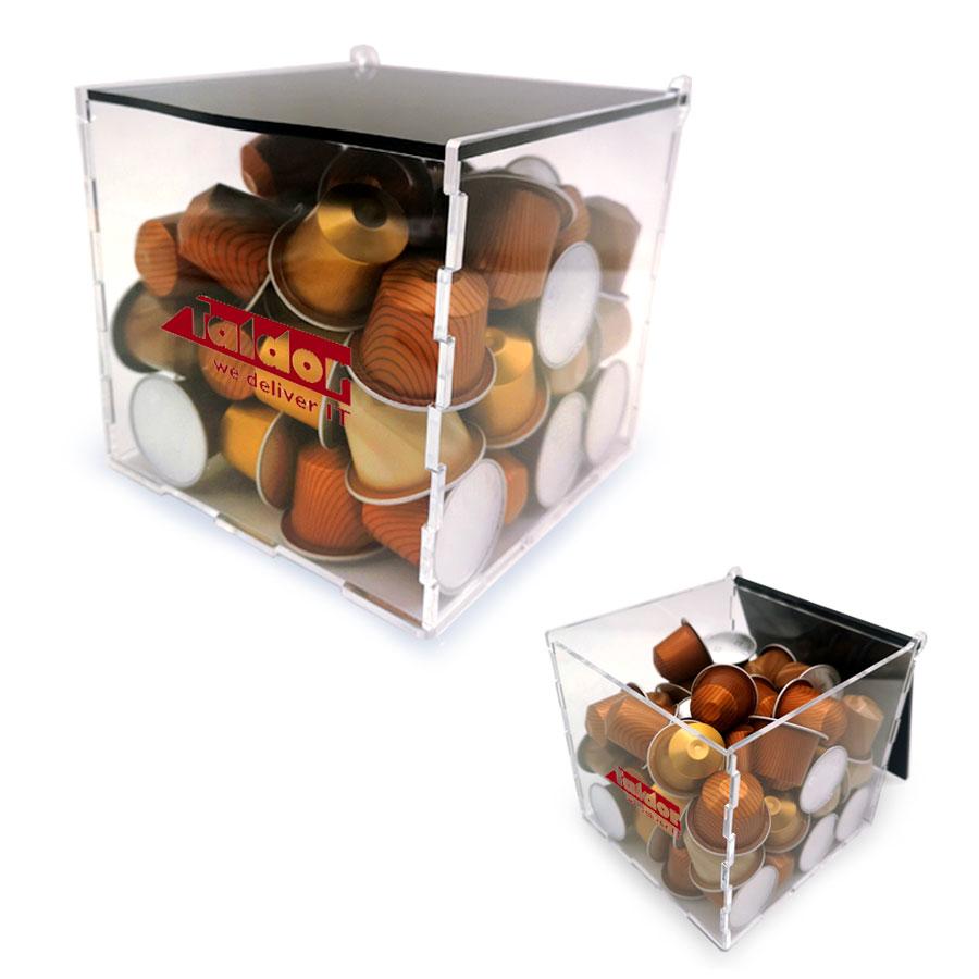 קופסה ממותגת לקפסולות לקפה + 50 קפסולות