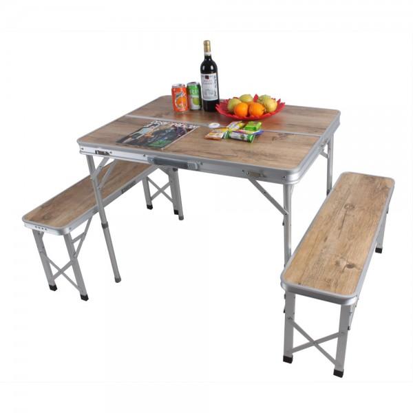 שולחן פיקניק מתקפל עם 2 ספסלים