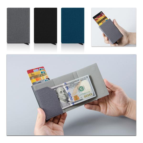 ארנק שולף כרטיסי אשראי עם מקום לשטרות - וולט