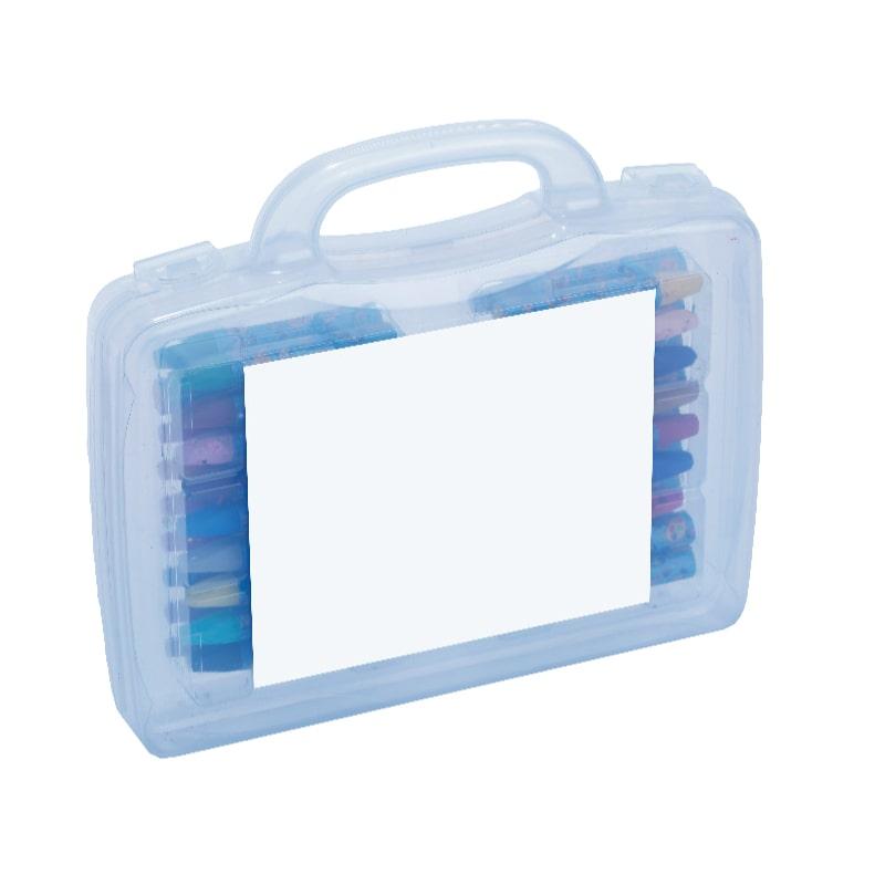 מזוודת פלסטיק 36 צבעי פנדה - קולור קייס