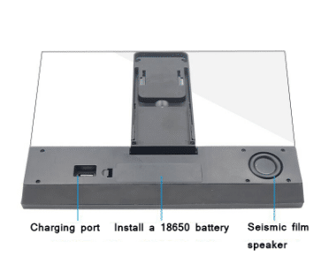 מגדיל מסך איכותי ומתקדם לטלפון הנייד שלכם המשולב ברמקול בלוטוס